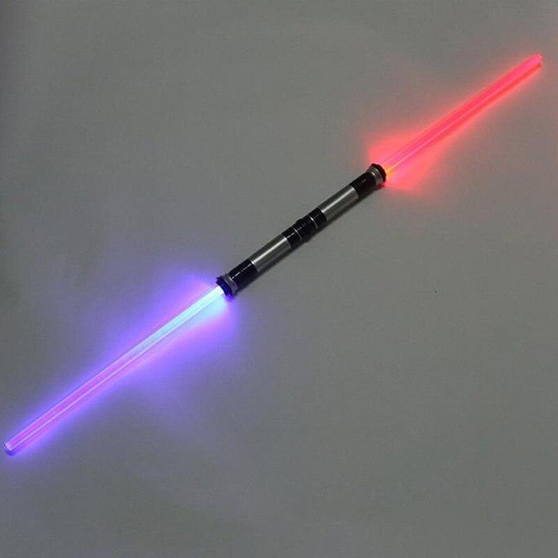 2 unidades Star Wars Lightsaber juguete divertido espada láser música luminosa intermitente niños al aire libre Juguetes Cosplay Niños Niñas regalo