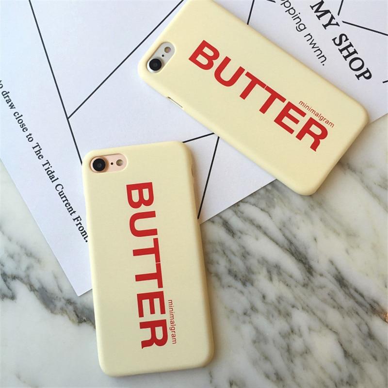 Original Letter Butter Phone Case For Apple Iphone 7 Case