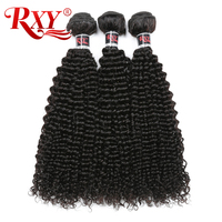 RXY Brazilian Hair Bundles Afro Kinky Curly Hair Weave Bundles Double Weft Extensions 100% Human Hair Bundles 1/3pcs Non Remy