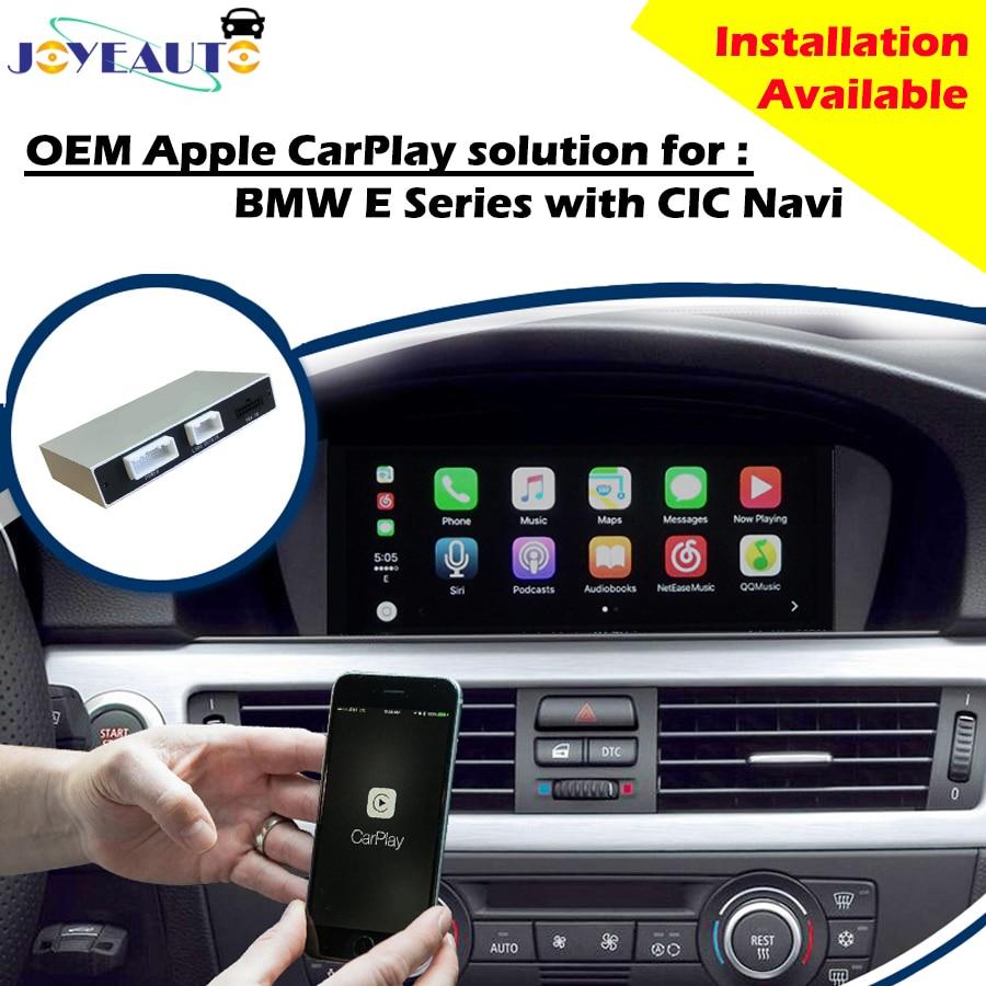 Aftermarket E série CIC OEM Apple Carplay Android Mise À Jour Automatique pour BMW 2009-2014 MA Caméra de Recul de voiture jouer avec Waze Spotify