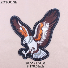 ZOTOONE Big Eagle Patch Embroidery Punk Patches For Clothes Stickers Jacket Applique Iron On Transfer Rock Cloth Animal G