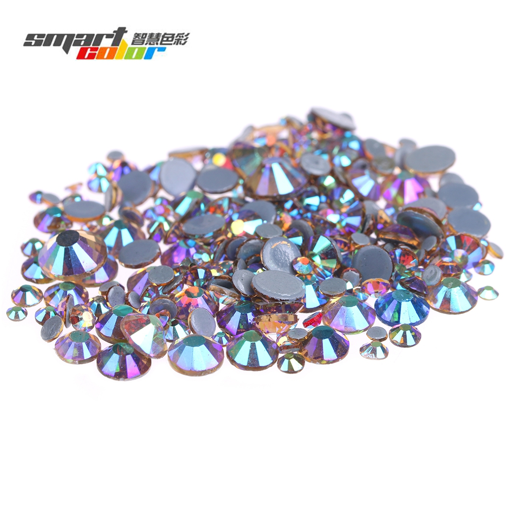 Light Topaz AB Color Hotfix Strass Rhinestones With Glue Backing Iron On Flatback Round Glass Crystals And Stones DIY resin rhinestones pink ab color 2mm 6mm 10000 50000pcs round flatback glue on strass beads for jewelry making diy decorations