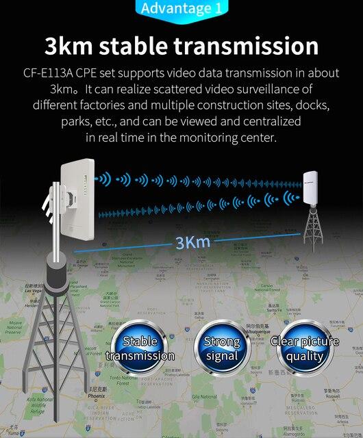 في المخزون 2 قطعة 3 كجم Comfast عالية الطاقة في الهواء الطلق واي فاي مكرر 5GHz 300Mbps اللاسلكية موزع إنترنت واي فاي AP موسع جسر نانو محطة AP