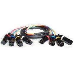Audio nuevo 4 canales SNAKE CABLE-10 pies XLR macho a XLR hembra Snake Cable con conectores dorados