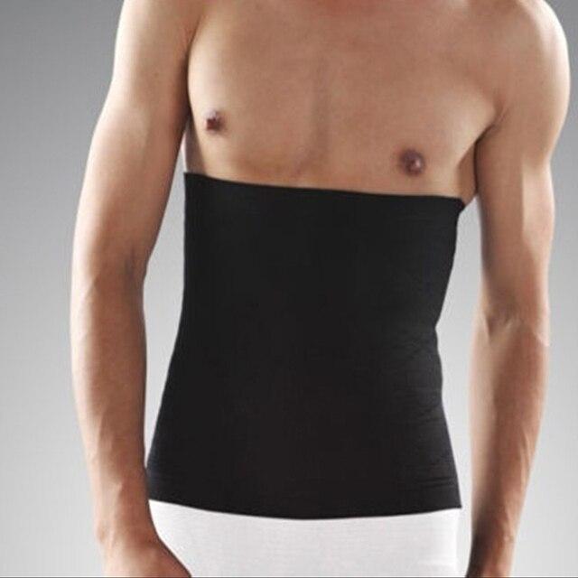 Slimming Belt Men Body Shapers Abdomen Fat Burning Control Weight Loss Waist Sweat Tummy Corset Trainer Shapewear Black Beige 2