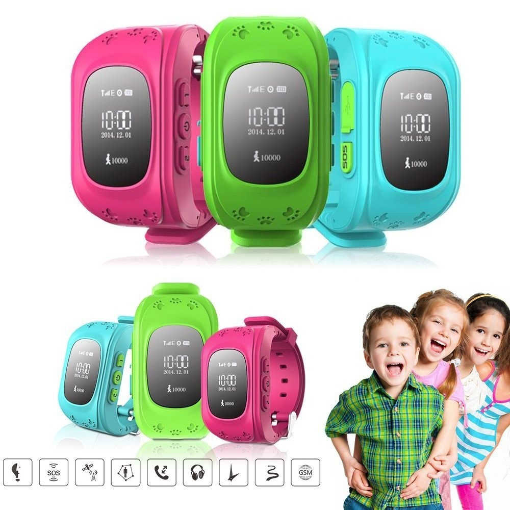 Q50 GPS Tracker SOS Kids Smart Watch Baby Watch Smart Phone Monitoring Anti Lost Compatible IOS & Android Samsung