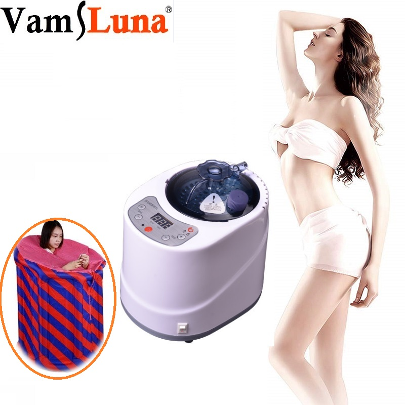 2L Remote Control Sauna Steamer, Stainless Steel Steam Generator Pot Evaporator for Home Personal SPA Shower For Body Relaxation