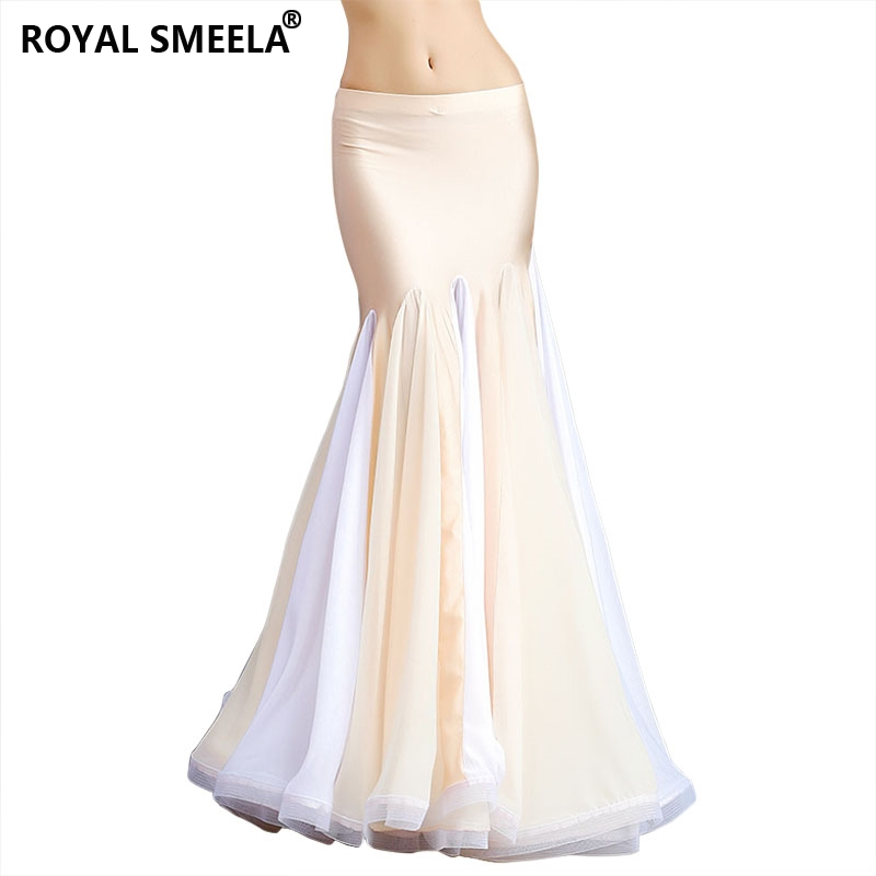 2019 Women Dancewear BellyDance Clothes Professional Ruffle Long Fish Tail Skirts Wrapped Belly Dance Skirt 6814