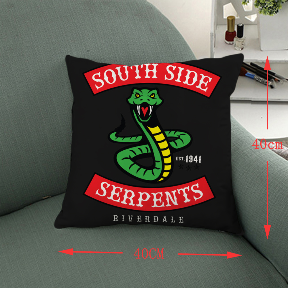 Giancomics 40*40 Riverdale Pillow Case Movie Symbol Knited Cloth Square Pillow Comfortable Household Furnishing Bolster Ornament