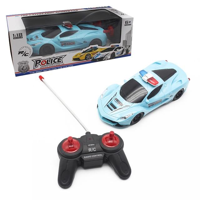Boy Toys 1 18 4ch Police Rc Car Model Baby 4cchannels Remote Control
