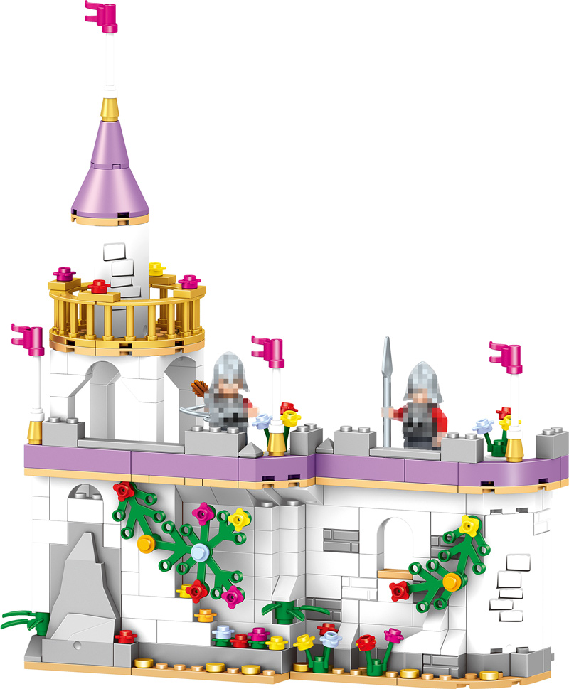 Princess Windsor Dream Castle Splicing ParticlesToys Family Enlightenment Building Blocks Childrens Christmas Gift For Girls