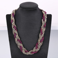 Noble Crystal Pearl Necklace Nattural Pearls Necklacef Women Fashion Crystal Chains Popular Pearl Jewelry For Necklace