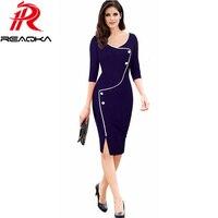 New Arrivals Work Dresses Women 2016 Autumn O Neck Professional Work Dress Women Fashion Plus Size