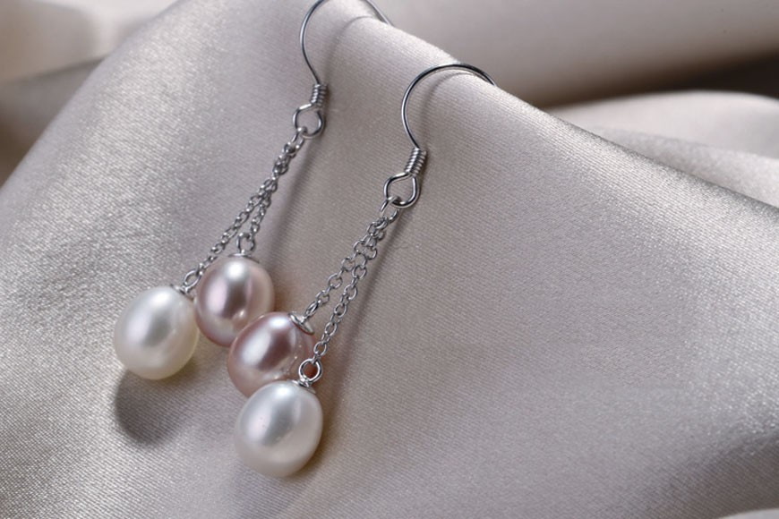 tassle pearl  earrings (2)