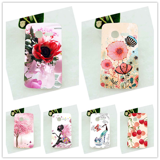 DIY Painted Protective Back Cover SOFT TPU Phone Case Cover For <font><b>Alcatel</b></font> <font><b>One</b></font> <font><b>Touch</b></font> <font><b>Pixi</b></font> 4007 4007X 4007E OT <font><b>4007D</b></font> Phone Cover image