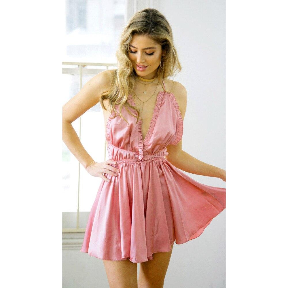 Women Holiday Mini bodysuit plus size Sleeveless Loose Short bodysuit feminino elegant Mar27 w20d35