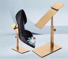 цена на High quality stainless steel shoe display stand rack adjustable women sandals holder high heel shelf Men leather shoe rack