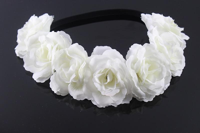 Nieuwe Boheemse stijl multi color pioen bloem Garland hoofd bloemen - Kledingaccessoires