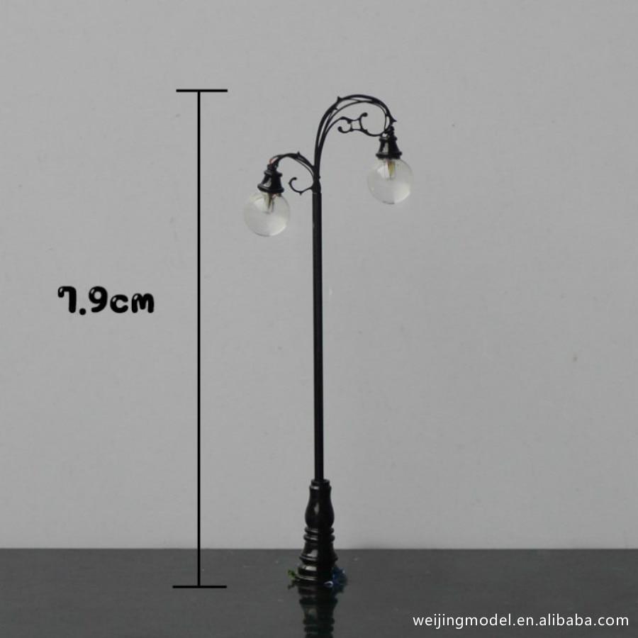 10pcs HO échelle 1:100 Modèle de Lampadaire 3V LED Lumière de Rue Modèle FR