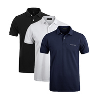 Pionner Camp 3 pack hot men Polo Shirt classic Business & Casual solid male polo shirt Short Sleeve breathable polo shirt