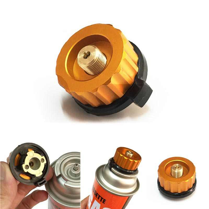 Camping Burner Cartridge Gas Fuel Canister Stove Cans Tank Adapter Converter cc