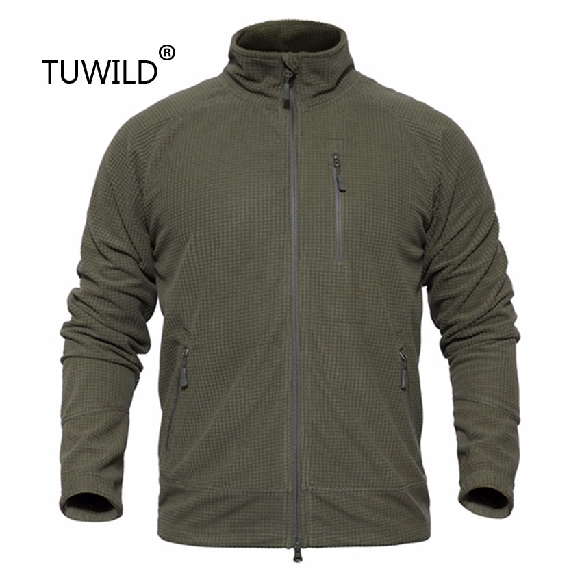 Men's Tactical Outdoor Fleece Jacket Camping Hunting Mountaineering Hiking Warm Clothing Sports Sweater Army Fan Men's Overalls