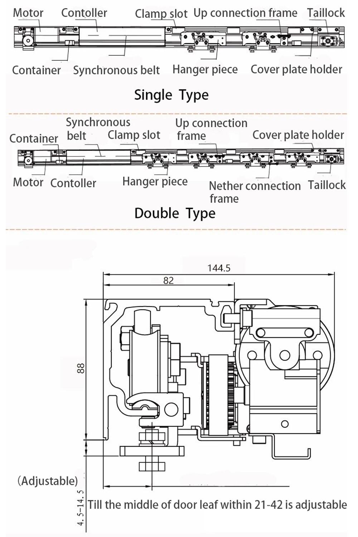 Olide European Style Automatic Sliding Door Operator (11)