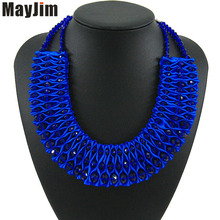 2018 New Statement Fashion Necklace Women Vintage Collar Chain Big Bead Handmade Crystal Choker Necklaces & Pendants Bijoux