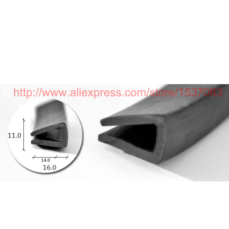 11mm x 16mm rubber edge trim seal strip weatherstripping for car door,cabinet,boat - TYPE 008 kids lettuce edge trim marled tee