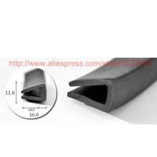 11x16mm rubber edge trim seal weatherstripping free freight - TYPE 008