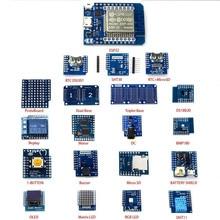20 ピース/セットミニ D1 ESP32 WiFi + ミニ D1 Bluetooth 学習キット DS18B20 SHT30 DHT11 リレーブザー OLED