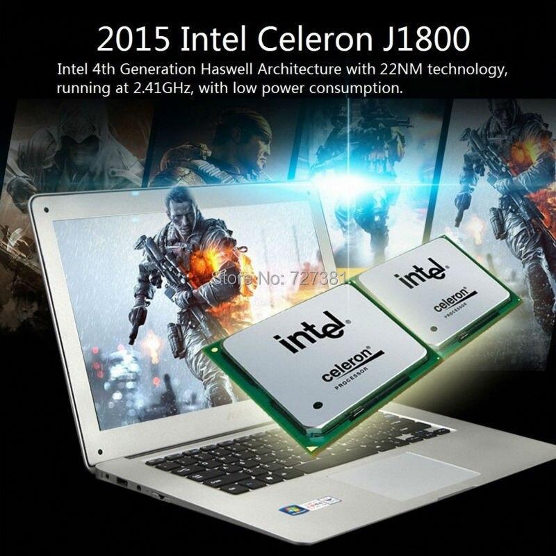 14inch laptop 8GB RAM 1TB HDD Windows 10/7 Slim Laptop Computer CPU Intel Celeron Notebook PC Azerty Russian Spanish Keyboard ноутбук windows 8 ultrabook qtech 116g 12 intel 4 azerty hdd 500g qt116g