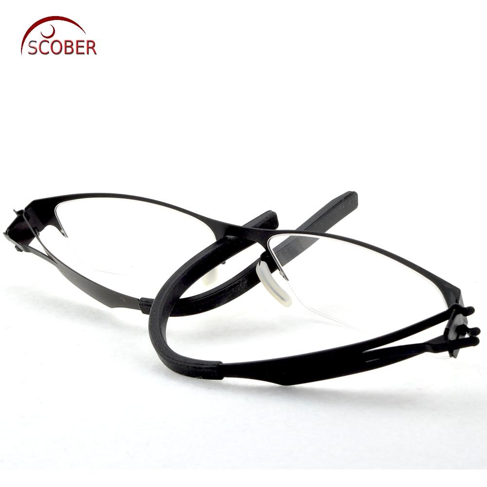 6936c1f51ee   SCOBER   Design No screws welding Half rim Reading Glasses Trigeminal  Legs Anti fatigue Coated Lens +1 +1.5 +2 +2.5 +3 +3.5 +4-in Reading Glasses  from ...