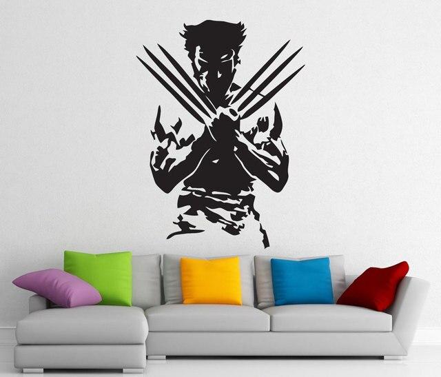 Росомаха, супергерой, съемная наклейка, Виниловая наклейка, украшение интерьера дома, модное украшение для комнаты для мальчика CJY22