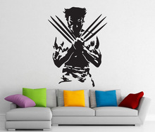 Wolverine, superhero, detachable sticker, vinyl decal, home interior art decoration, boy room fashion decoration CJY22