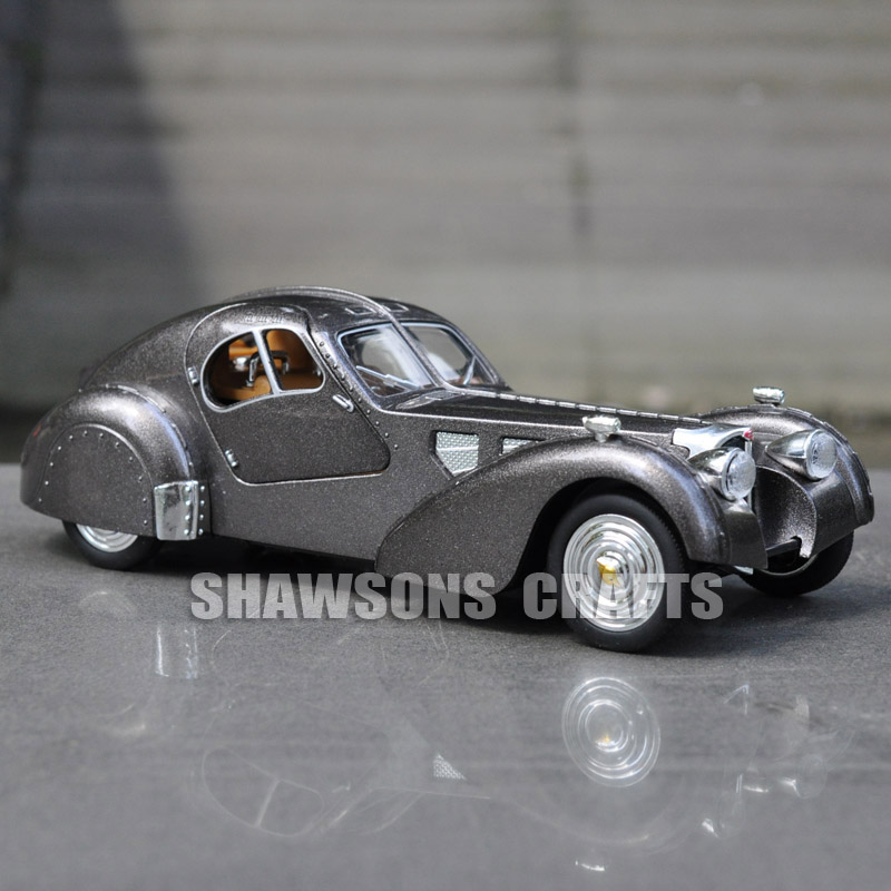 1:28 DIECAST MODEL TOYS VINTAGE CAR PULL BACK BUGATTI TYPE 57SC ...