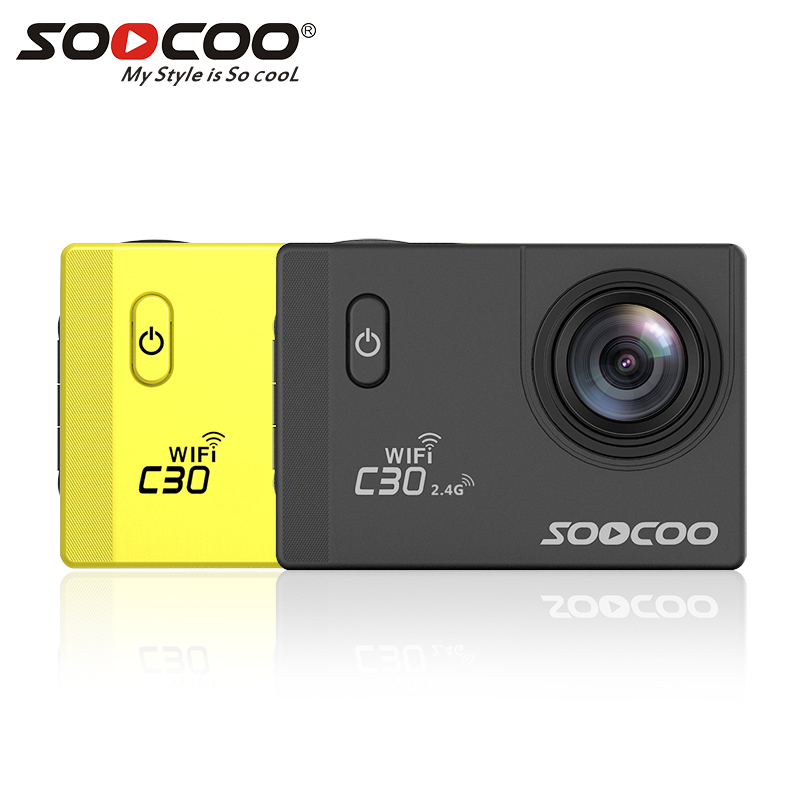 SOOCOO C30 / C30R Action Camera 4K Gyro Wifi Adjustable Viewing angle 170 Degrees 2.0 LCD NTK96660 IMX078 30M Waterproof Camera eken h9r h9 action camera 4k wifi viewing angle 170 degrees 2 0 lcd 30m go waterproof pro sports camera with remote controller