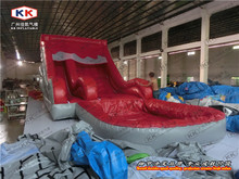 Red Water Slide for Adult Inflatable Pool Slide For Summer Time