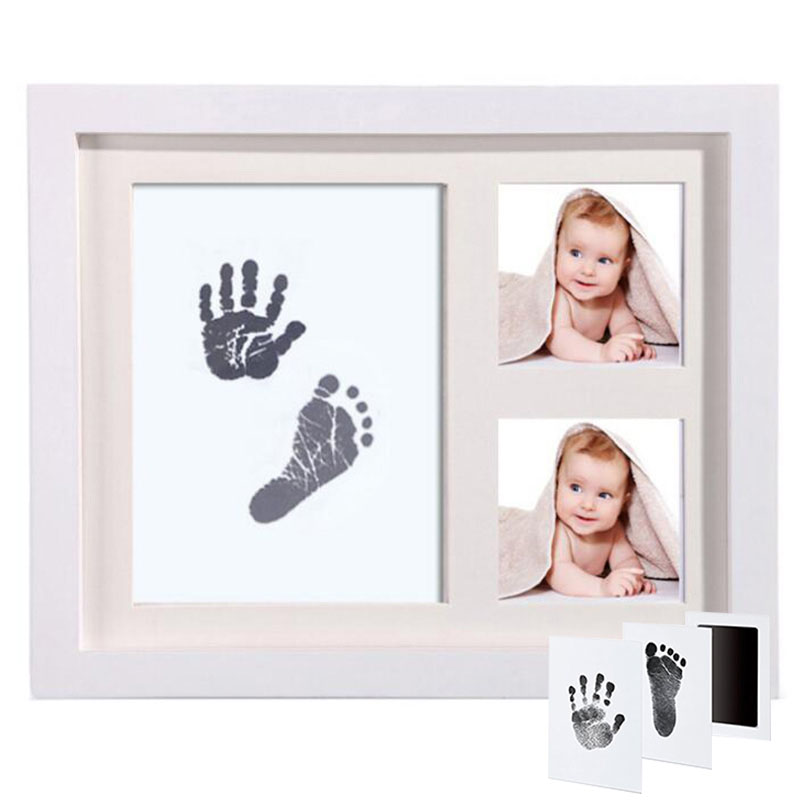 Baby Souvenirs Goods Babies Handprint Footprint Inkpad Photo Frame For Children DIY Inkless Ink Pad Casting Molds Newborns Toy