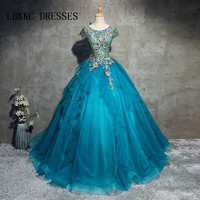 Blue Quinceanera Dresses Sweet 16 Dresses For 15 Years Ball Gown Lace Beaded Quinceanera Gowns Vestidos De 15 Anos