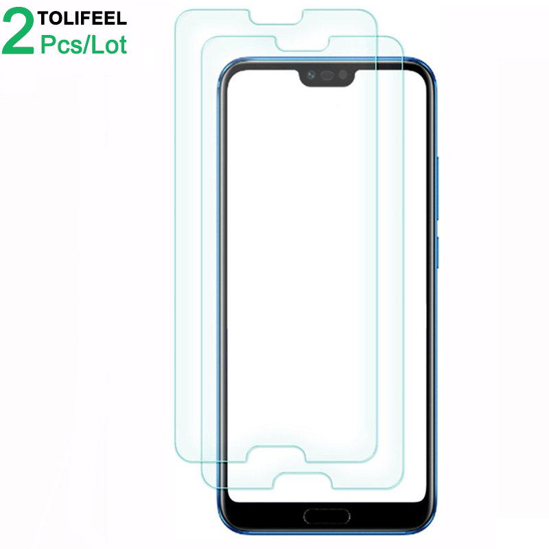 2Pcs Tempered Glass For Huawei Honor 10 Screen Protector 9H 2.5D Phone On Protective Glass For Huawei Honor 10 Glass
