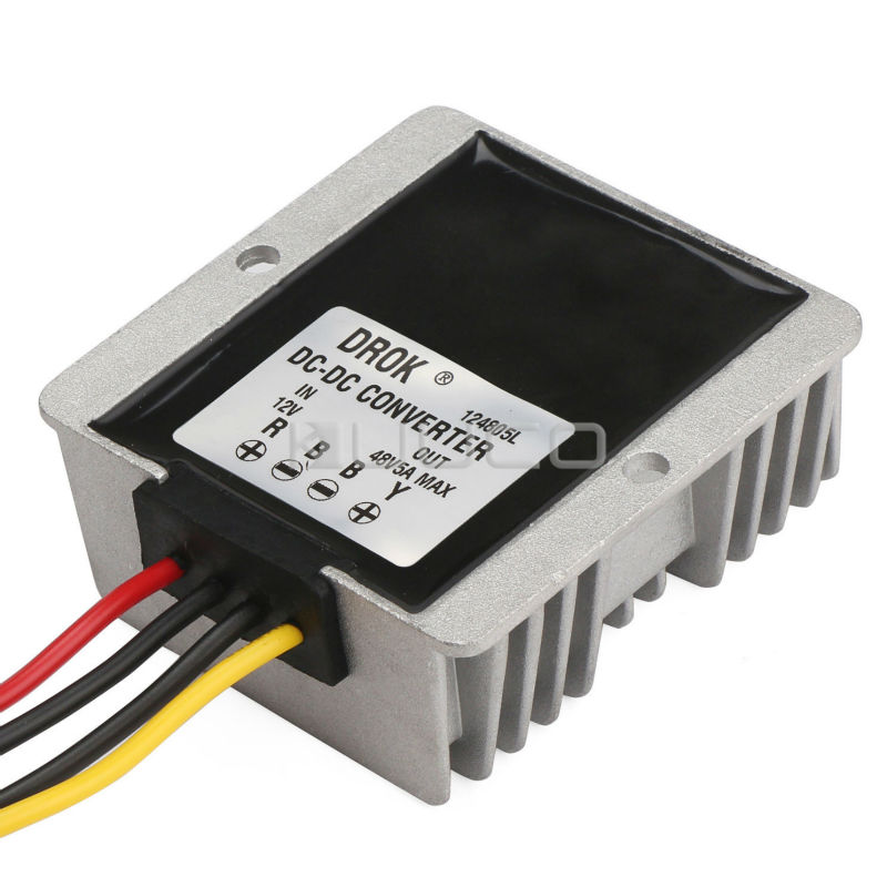 цена на 240W Car Power Supply Module DC 12V to 48V 5A Boost Voltage Regulator/Power Converter/Power Adapter/Driver Module Waterproof