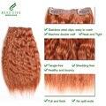 6 pçs/set Molhado e Ondulado Virgem Brasileiro Do Cabelo #33 Clipe Em Humano Extensões do cabelo 112G Grampo Em Extensões Do Cabelo Humano Molhado e Ondulado