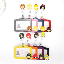 2017 New Design Nurse Retractable Badge Reel Pull ID Card Badge Holder Belt Clip with Card Holder Hospital School Office