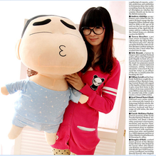 big plush kissing Crayon Shinchan toy huge pajamas Crayon Shinchan doll gift about 100cm 558