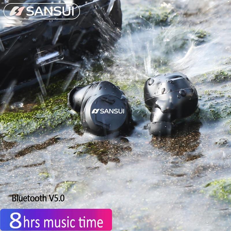 Sansui I23 Mini 5.0 3D Sports Wireless Earbuds In-Ear Earphones Bluetooth Headset Drive Wireless Bluetooth Running Earphones проектор sansui hd dlp 3d 1200 3d proyector 200 sansui x5 luxury version