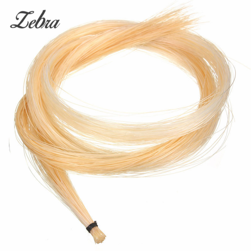Zebra Hot Sale 1pc White Hank 80cm 32Inch Mongolian Violin / Viola / Cello Bow Hair Horsehair Violin Parts Accesories