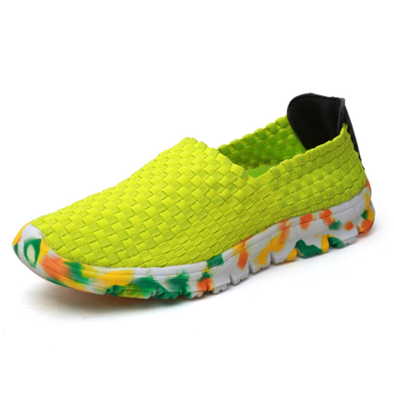 ФОТО spring Summer Women's Casual Shoes Sport Fashion Walking Shoes for Women Flats Shoes spendex fabric woven upper Size 35-44