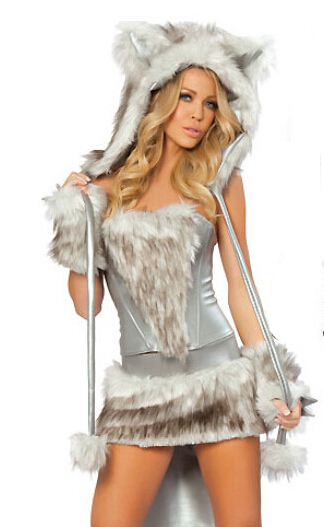 new sexy halloween female clothes maomao animals wolf cosplay costume free size for halloween hot sale - Womens Wolf Halloween Costume