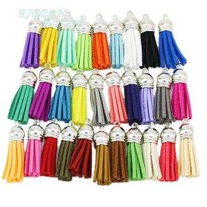 (20 pcs/lot) Tassel Vintage Leather Tassels Fringe for Purl Macrame DIY Jewelry Keychain Cellphone Straps Pendant(China)